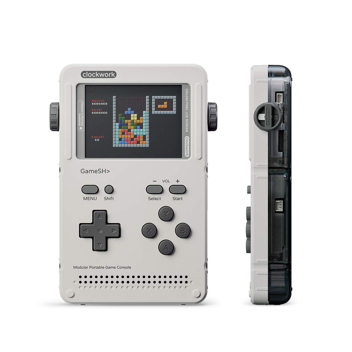 Clockwork GameShell Portable Game Console Sideview