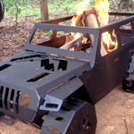 Fab Fours Jeep Fire Pit Burning