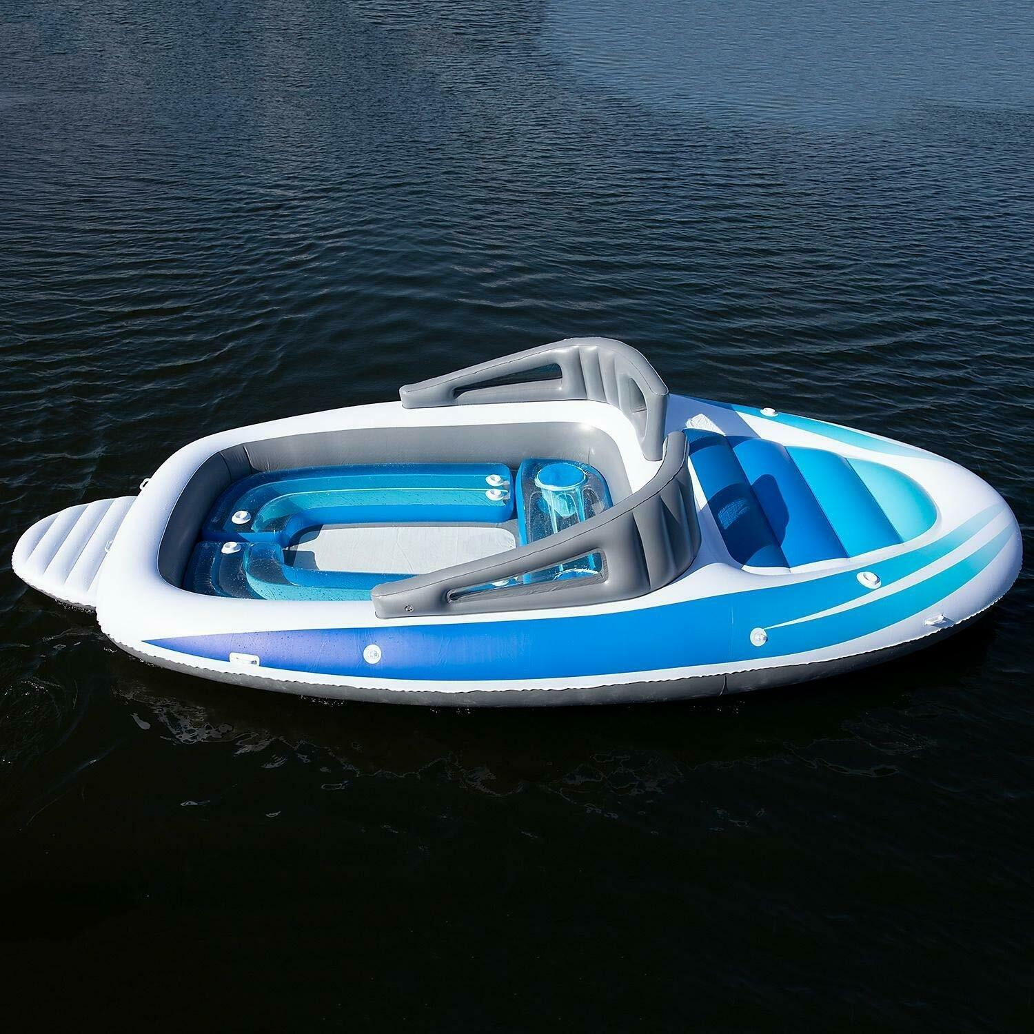 6-Person Inflatable Bay Breeze Boat Island Empty
