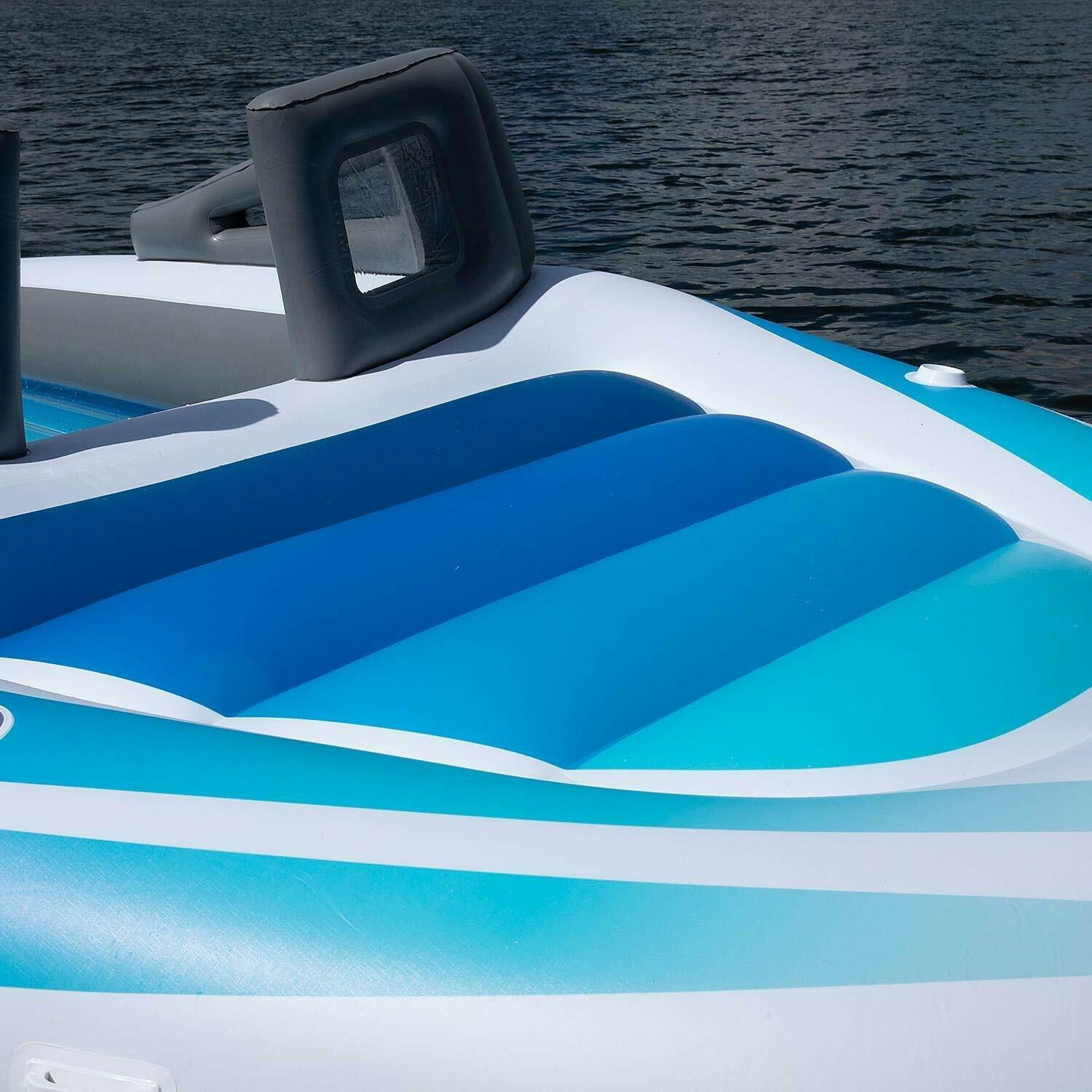 6-Person Inflatable Bay Breeze Boat Island Front