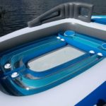 6-Person Inflatable Bay Breeze Boat Island Interior Cupholders