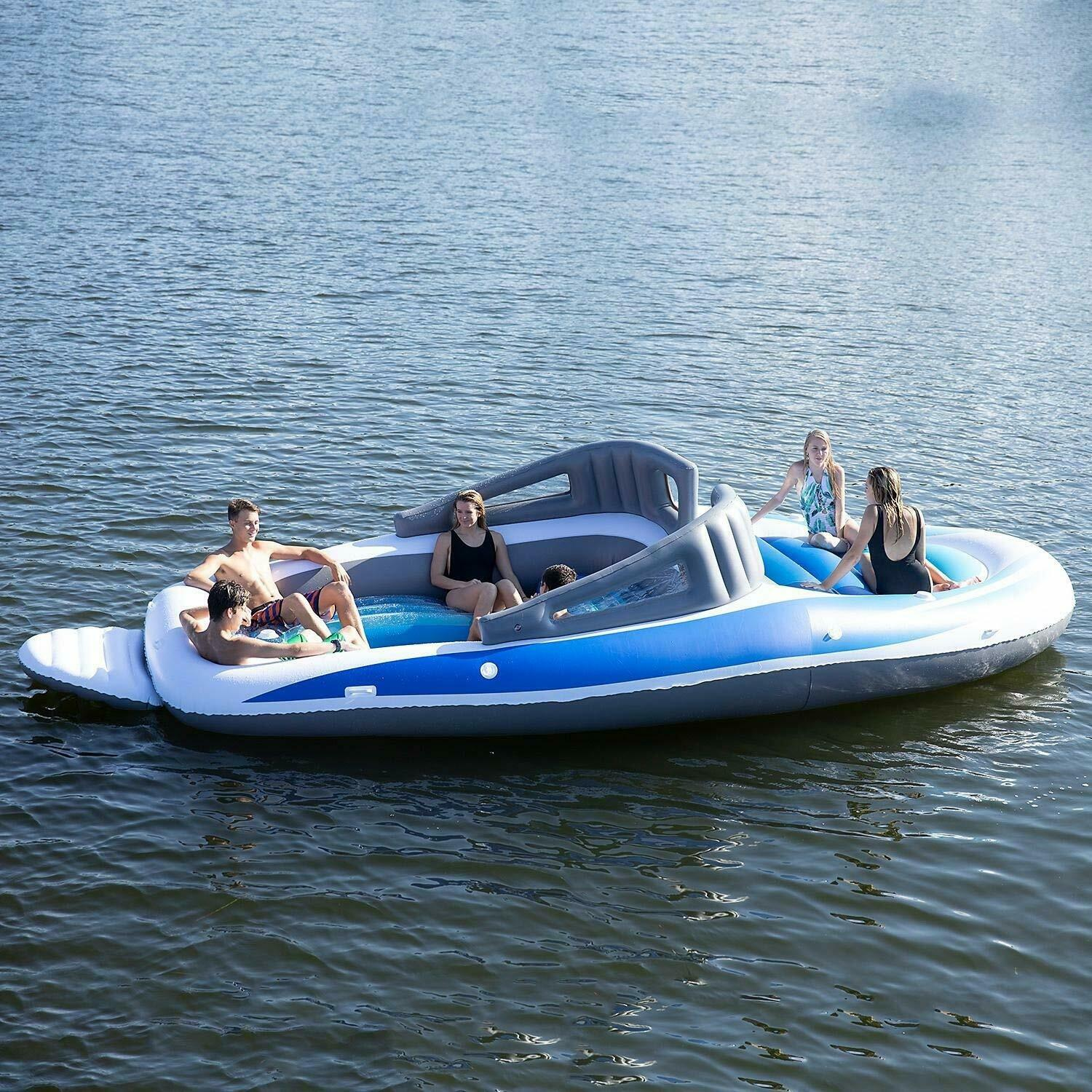 6-Person Inflatable Bay Breeze Boat Island Wakeboard