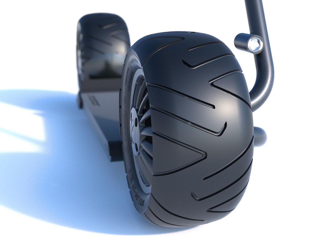 Stator front-headlight-wheel