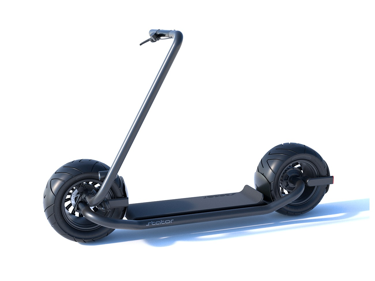Stator scooter right-side-tilt-view