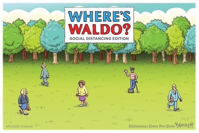 Wheres Waldo COVID-19