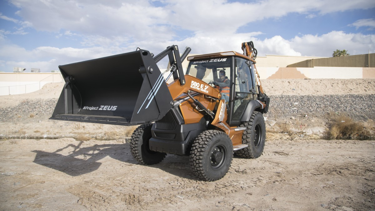 Case 580 EV Project Zeus Electric Backhoe