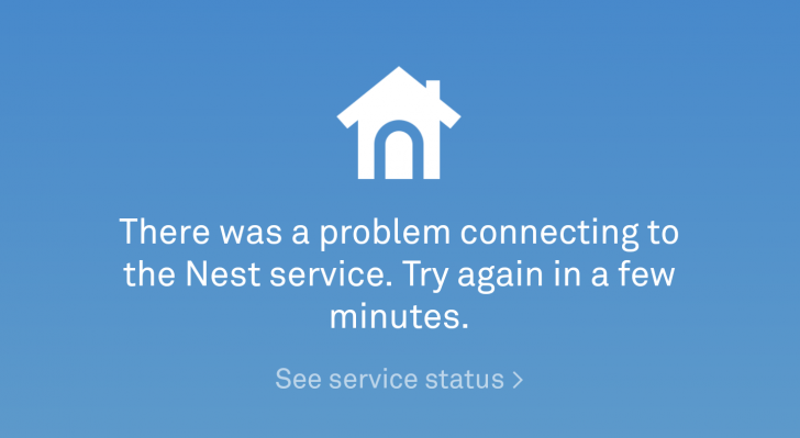 Nest is down again