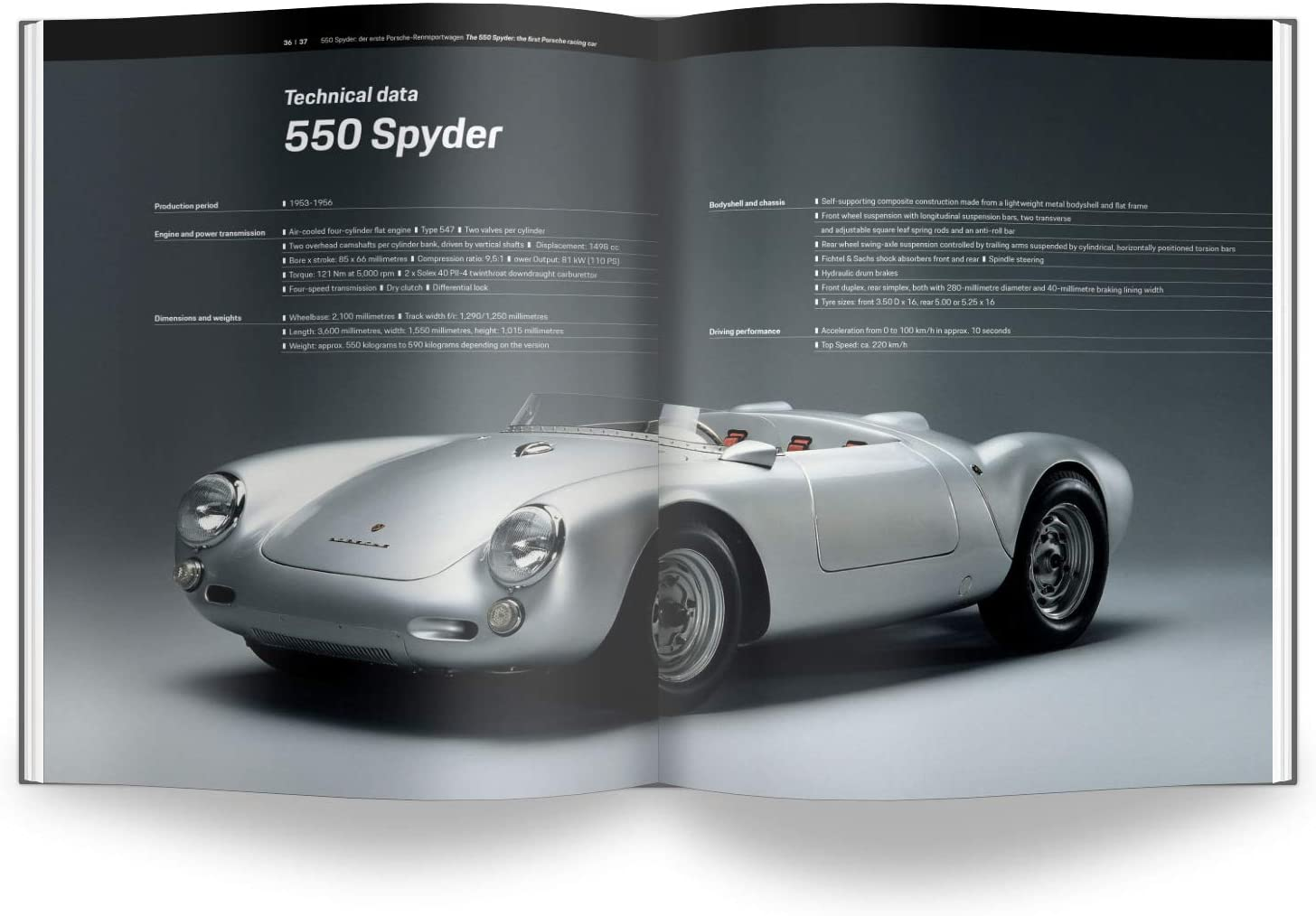 Porsche Carrera 547 1:3 Scale Engine Kit Book 550 Spyder