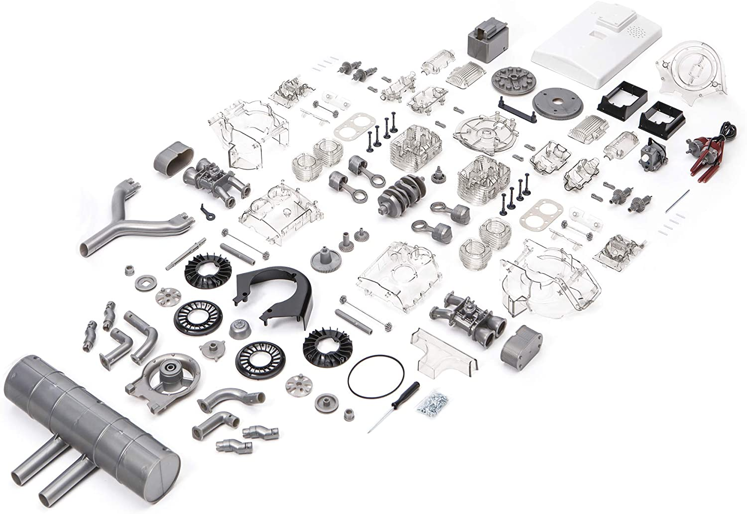 Porsche Carrera 547 1:3 Scale Engine Kit Parts