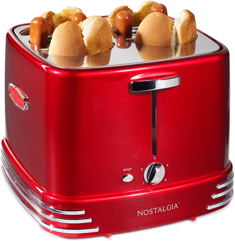 Nostalgia Red 4 hot dog cooker