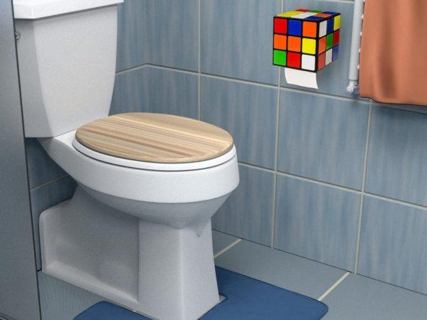 Rubiks Cube Toilet Paper Dispenser