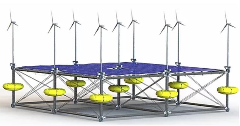 Sinn Power Floating solar wind wave system 2