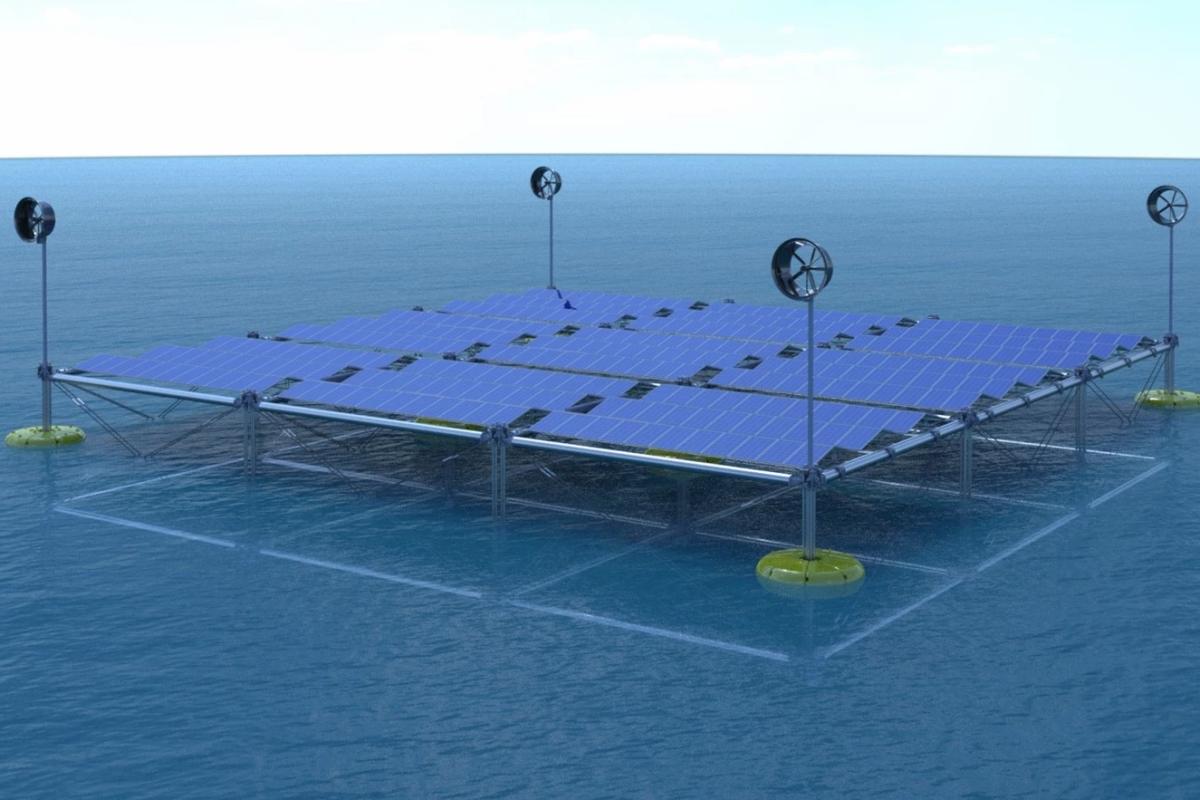 Sinn Power Floating solar wind wave system 3
