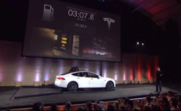 Tesla Model S Battery Swap In 90 Seconds