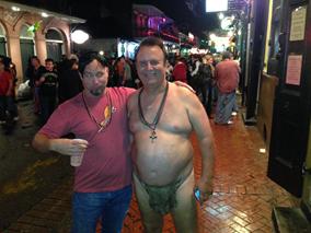 2013 New Orleans Halloween Steve and Tarzan