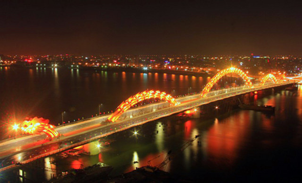 Vietnam Fire Breathing Dragon Bridge