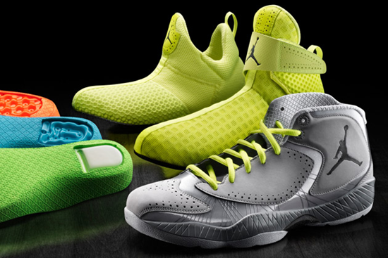 Oh, the infamous Air Jordan shoes go on and on and on. The latest pair of  Air Jordan 2012 shoes continue the 2011 modular system.