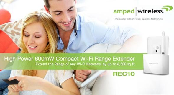 Amped Wireless REC10 WiFi Range Extender