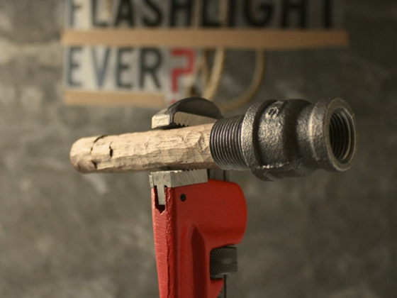 Hand Carved Flashlight