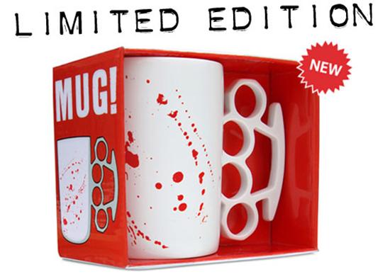 Brass Knuckles Bloody Mug