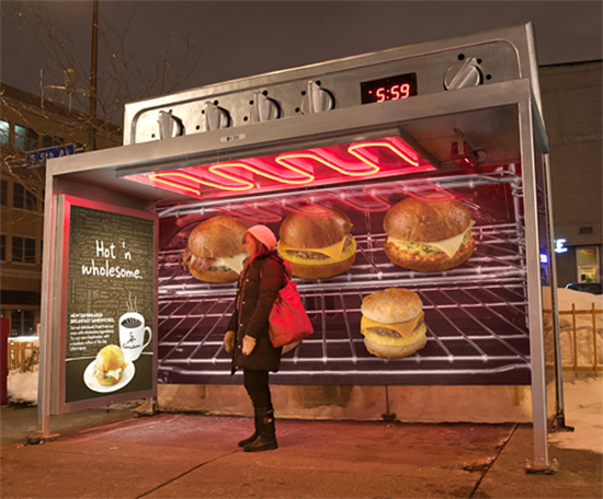 Caribou Coffee Oven Bus Stop