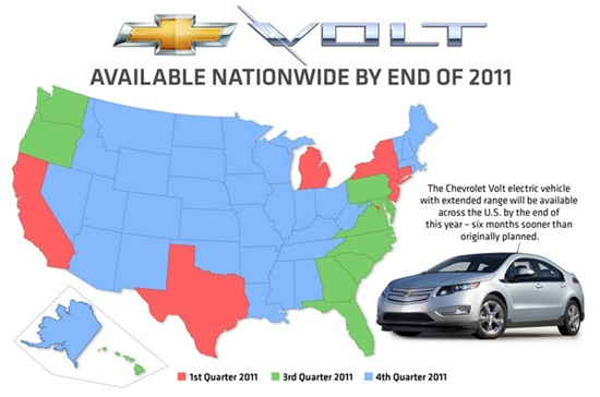 Chevy Volt Goes Nationwide