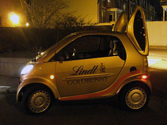 Lindt Bunny Smart Car