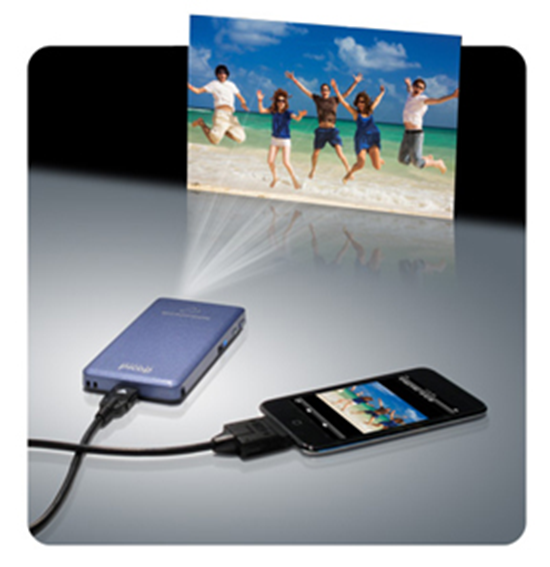 Easy to use pico projector that fits in your pocket for Best pocket projector for iphone