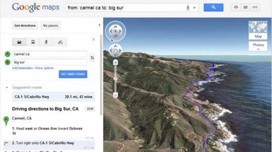Google 3D Helicopter View