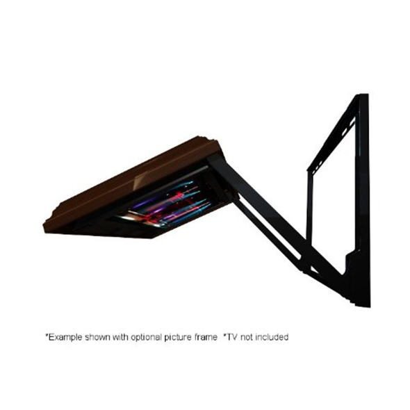 Flip-out tv mount picture frame
