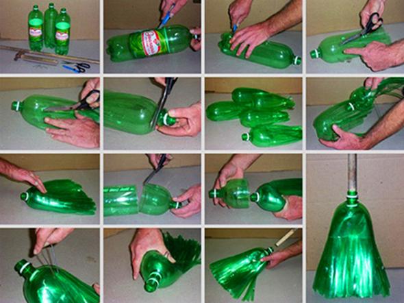 How to make soda bottle broom