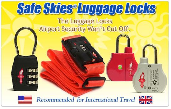 Safe Skies Luggage Locks TSA Friendly
