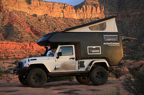 Jeep Unlimited Action Camper Pics