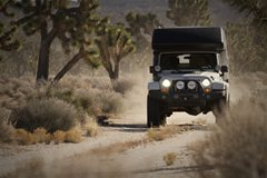Jeep Unlimited Action Camper Driving
