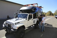 Jeep Unlimited Action Camper with rack