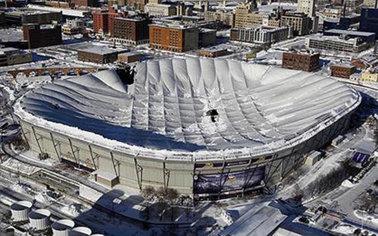 Minnesota Metrodome Collapse Video