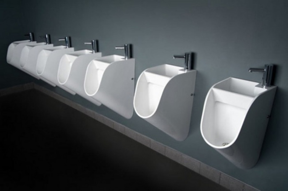 STAND A Urinal With Built-In Sink