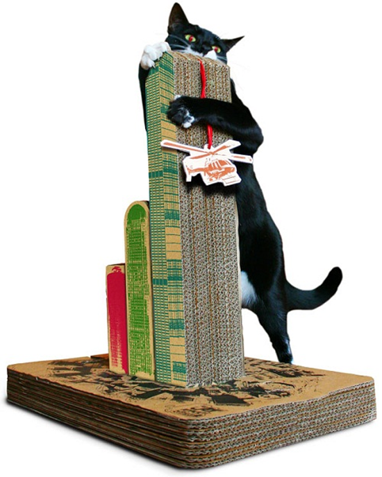 Cats Attack Scratching Post