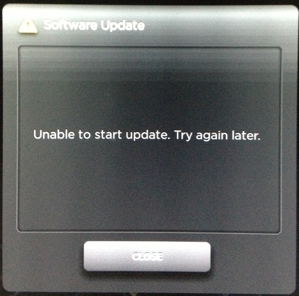 Unable to start update. Try again later.