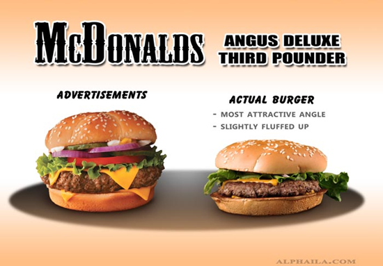 McDonalds Angus Deluxe Comparison