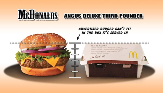 McDonalds third pounder Comparison