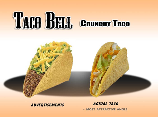 Taco Bell Cruncy Taco Comparison