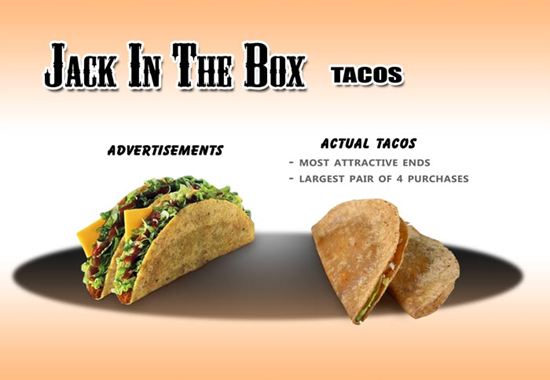 Jack In The Box Taco Comparison