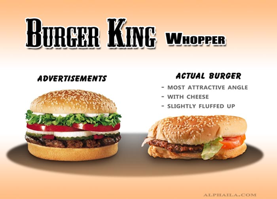 Burger King Whopper Comparison