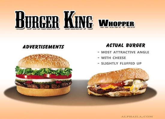 BK Whopper Comparison