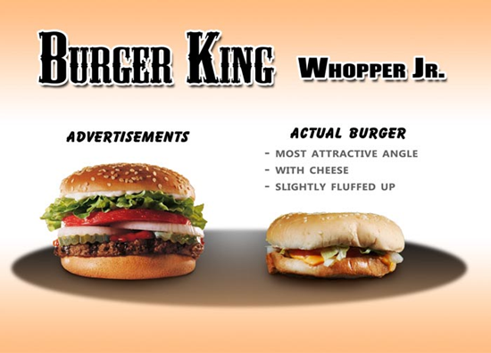 Burger King Whopper Jr Comparison