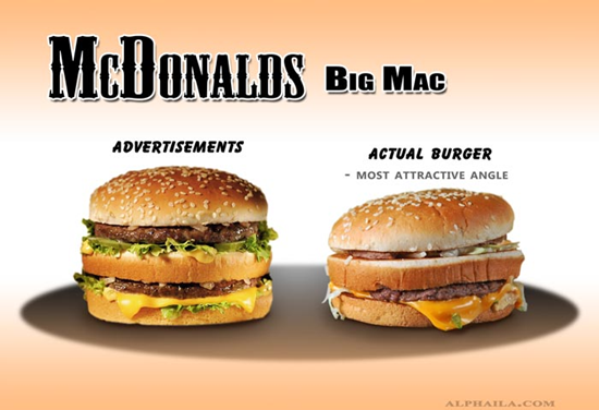 McDonalds Big Mac Comparison