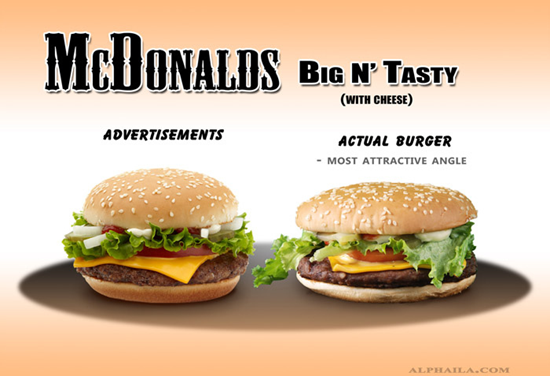 McDonalds Big N' Tasty Comparison