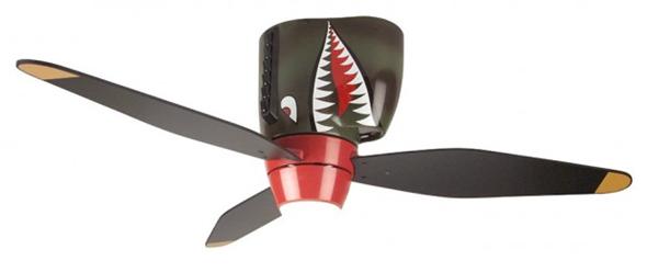 Warplane Tiger Shark Ceiling Fan