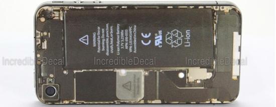 iPhone 4 teardown decal